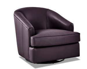 Lamar Leather Swivel Gliding Accent Chair (4 Colors)