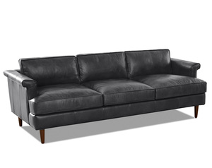 "Malcolm Leather Down Blend Sofa 87"" or 60"" (2 Colors)"