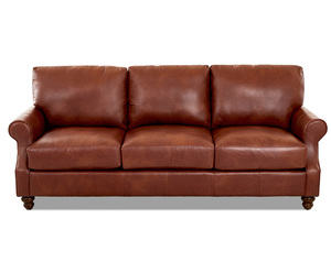 "Winston Leather Down Blend Oversized 92"" Sofa (3 Colors)"
