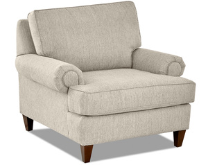 Whitney Accent Chair and Ottoman (2 Colors)