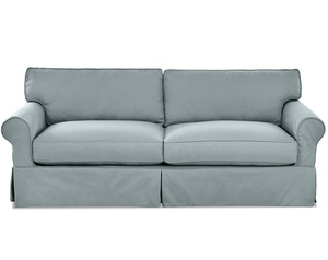 "Olivia 93"" Down Blend Slipcovered Sofa (3 Colors)"