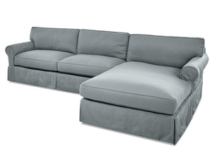Olivia Down Blend Sofa Chaise Sectional (Right Side) - 3 Colors