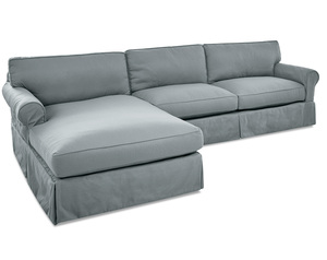 Olivia Down Blend Sofa Chaise Sectional (Left Side) - 3 Colors