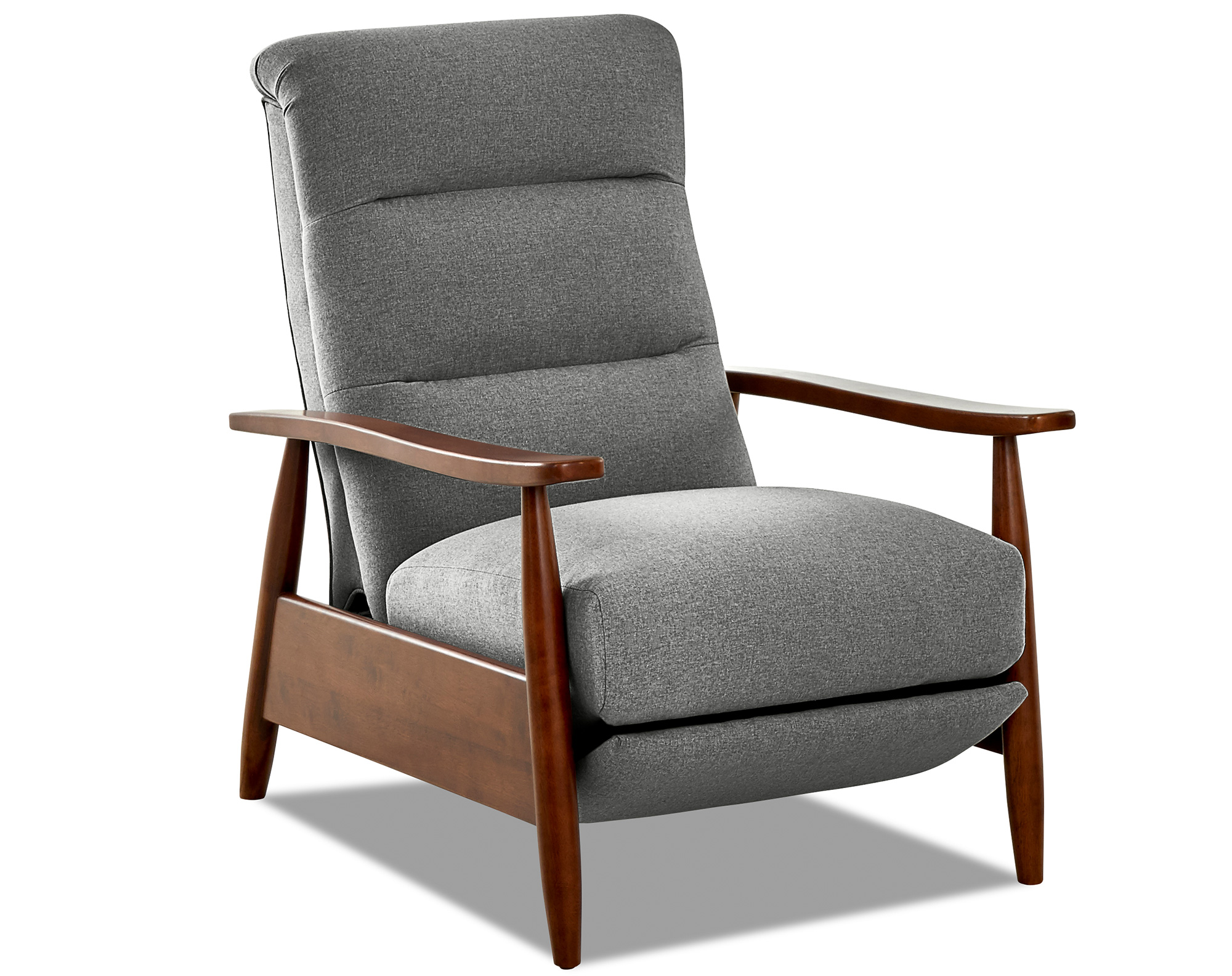 Aaron Fabric Modern Push Back Reclining Chair Sofas And