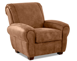 Aiden Leather Accent Chair and Ottoman (2 Colors)