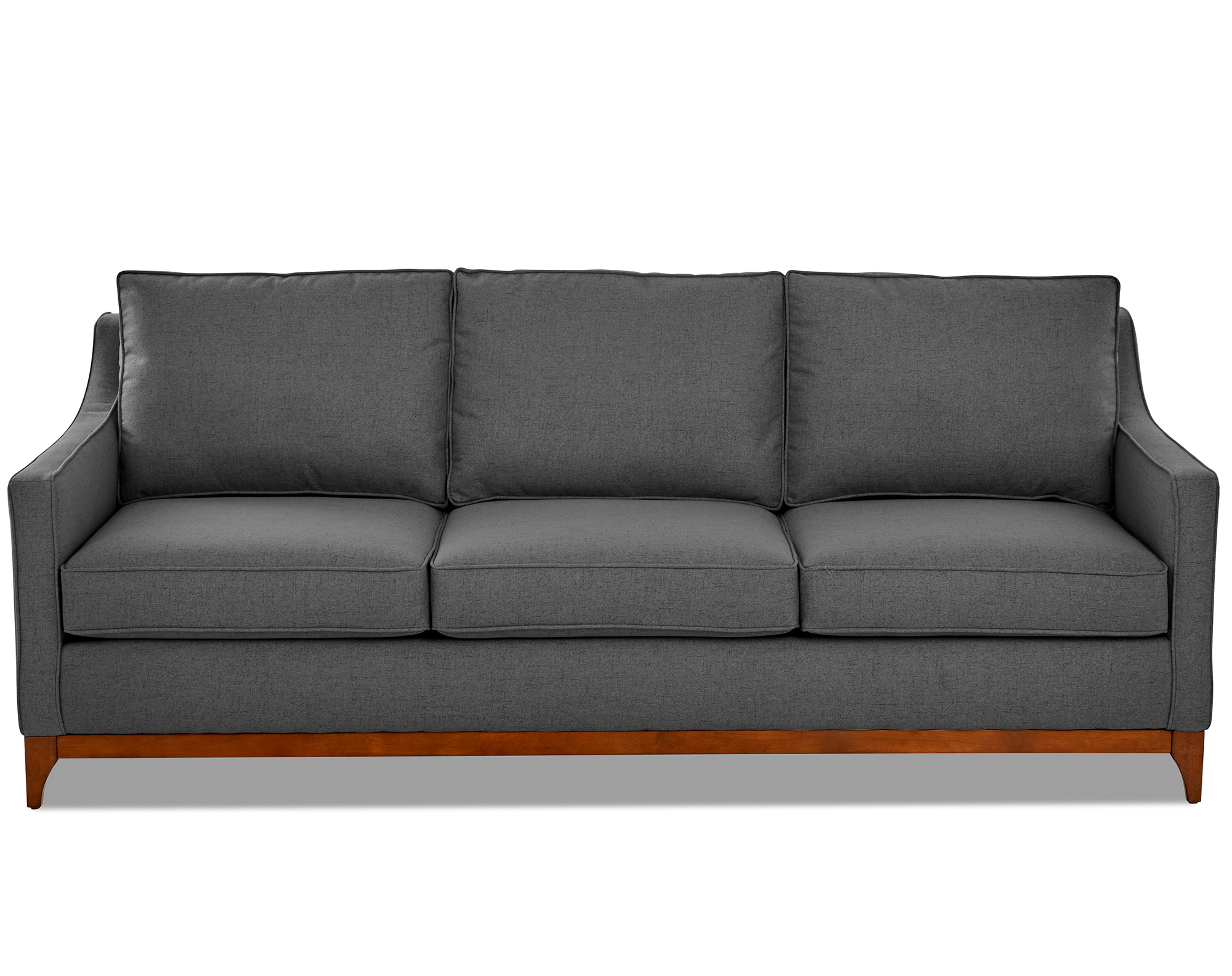 Ansley 86 Fabric Wood Base Sofa 3 Sofas And Sectionals