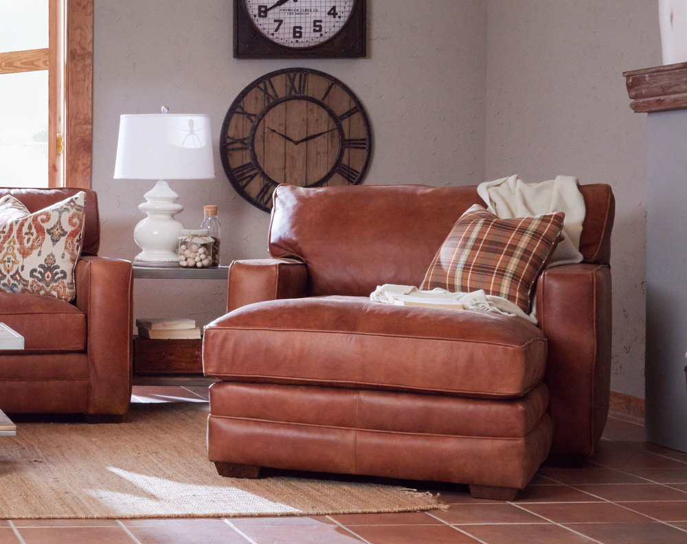 Chicago Leather Chaise Lounge | Sofas and Sectionals