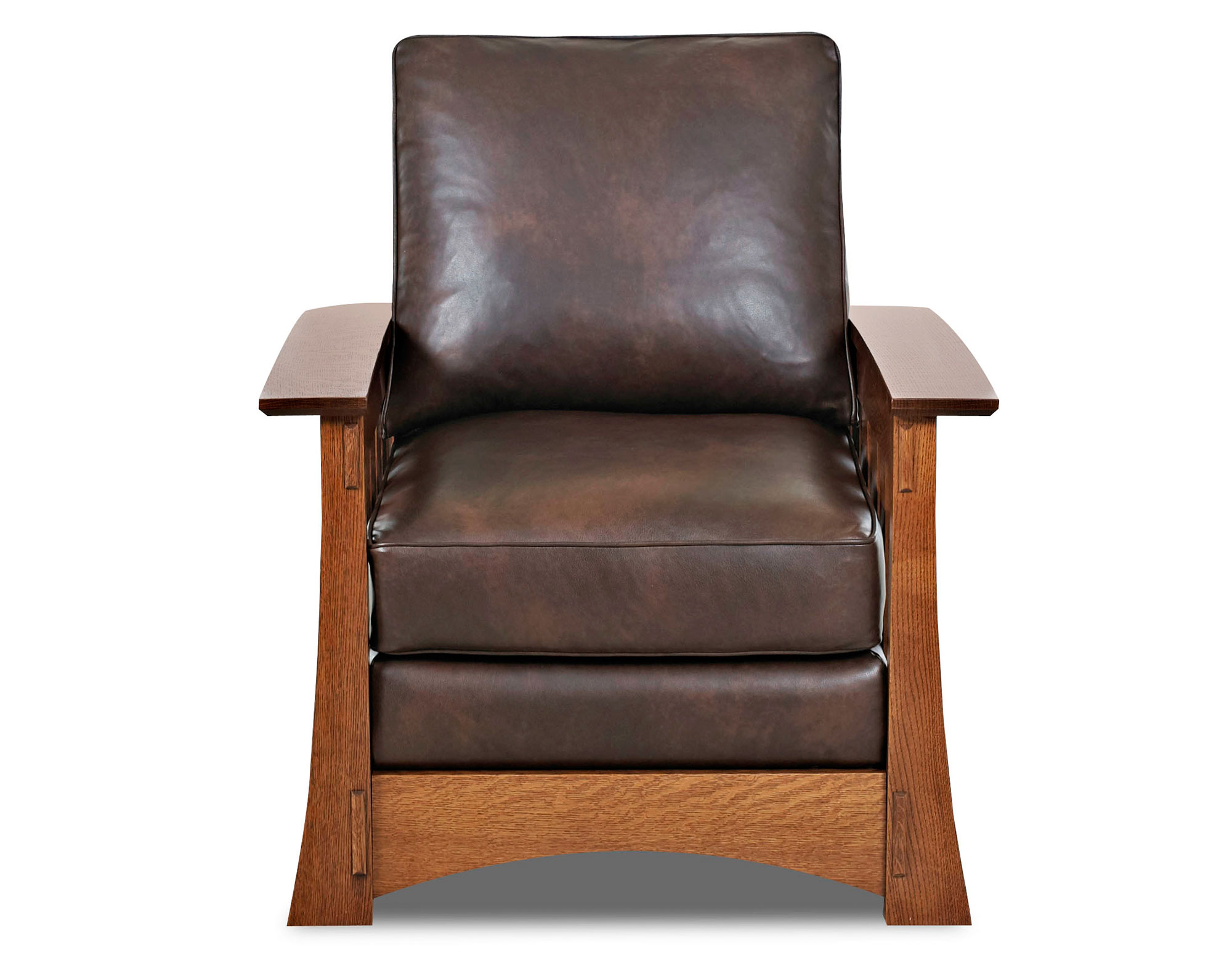Highlands 83 Wood Trimmed Mission Leather Sofas And