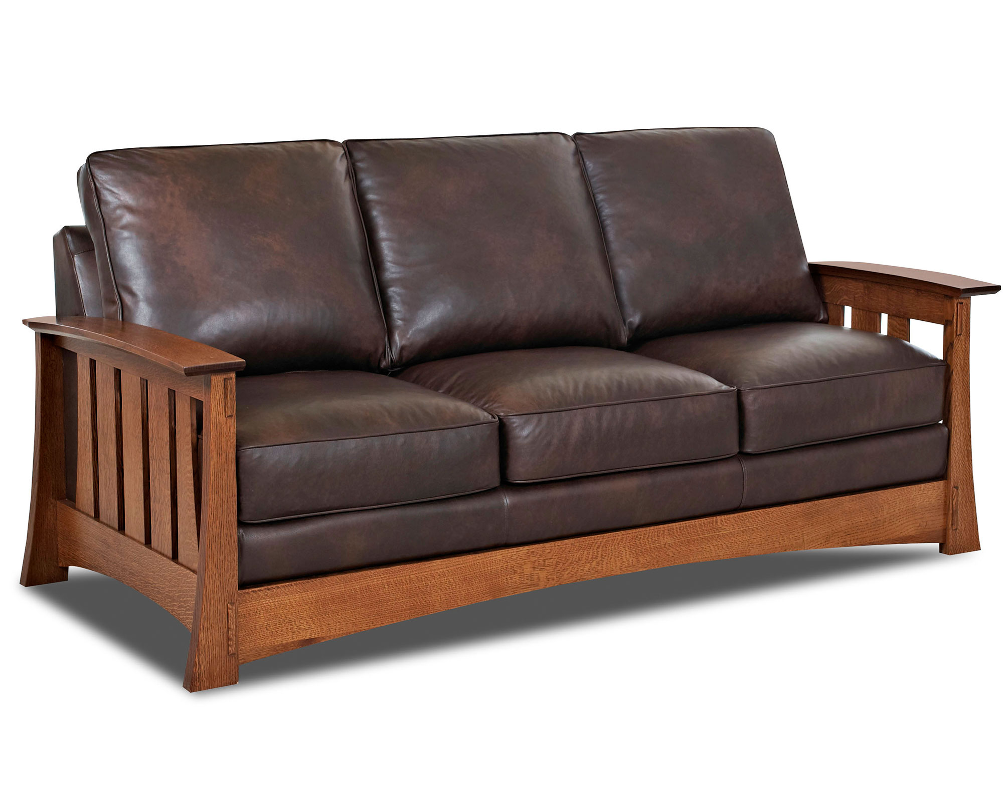 Highlands 83 Mission Style Leather Queen Sofas And Sectionals