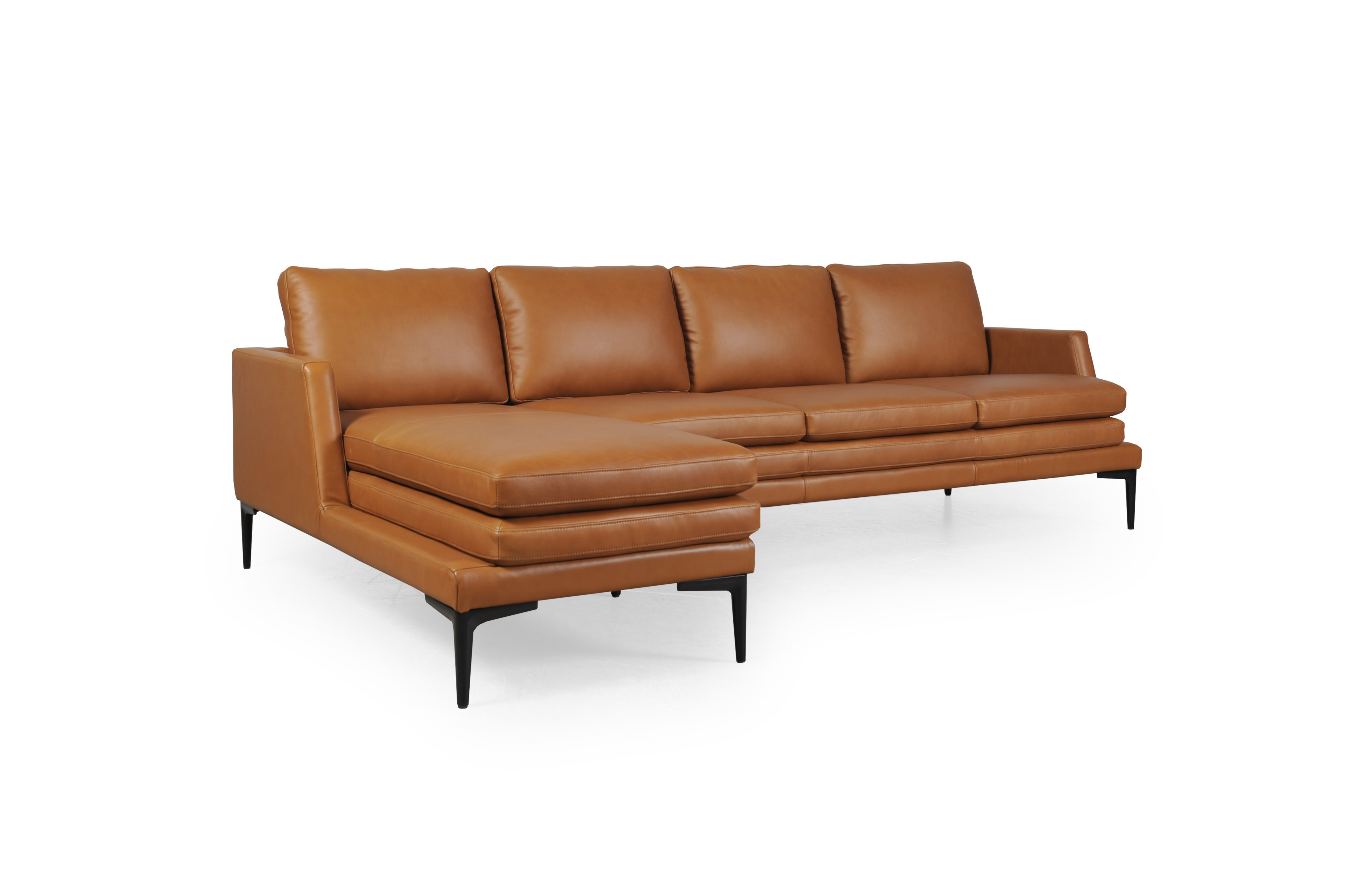 Astounding Rica Full Leather Tan Sectional 439Sc Sofas And Sectionals Gmtry Best Dining Table And Chair Ideas Images Gmtryco