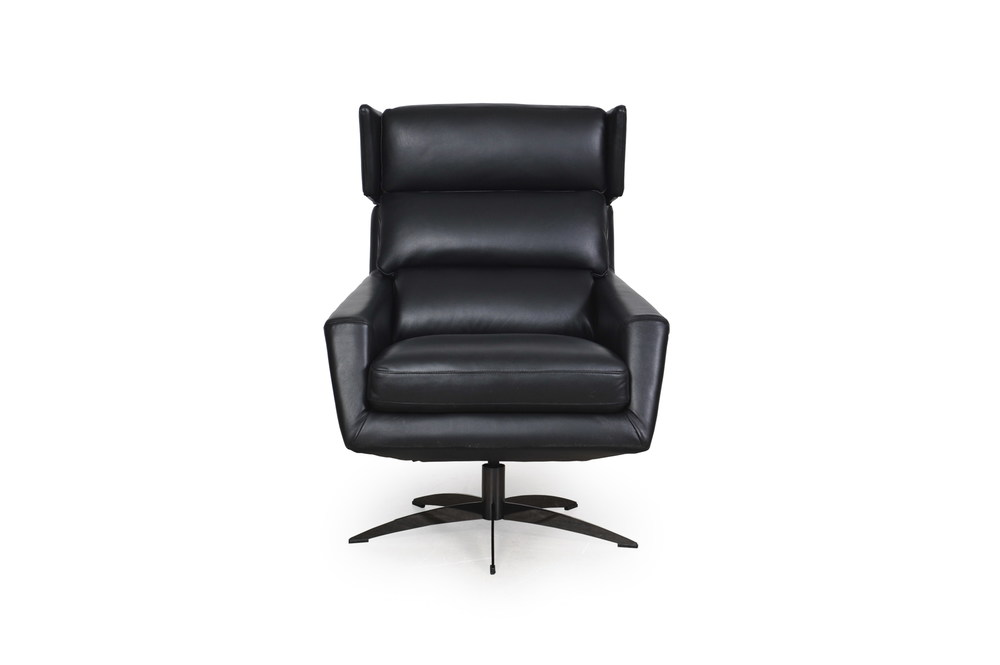 Outstanding Hansen Black Full Leather Modern Swivel Chair Sofas And Gmtry Best Dining Table And Chair Ideas Images Gmtryco