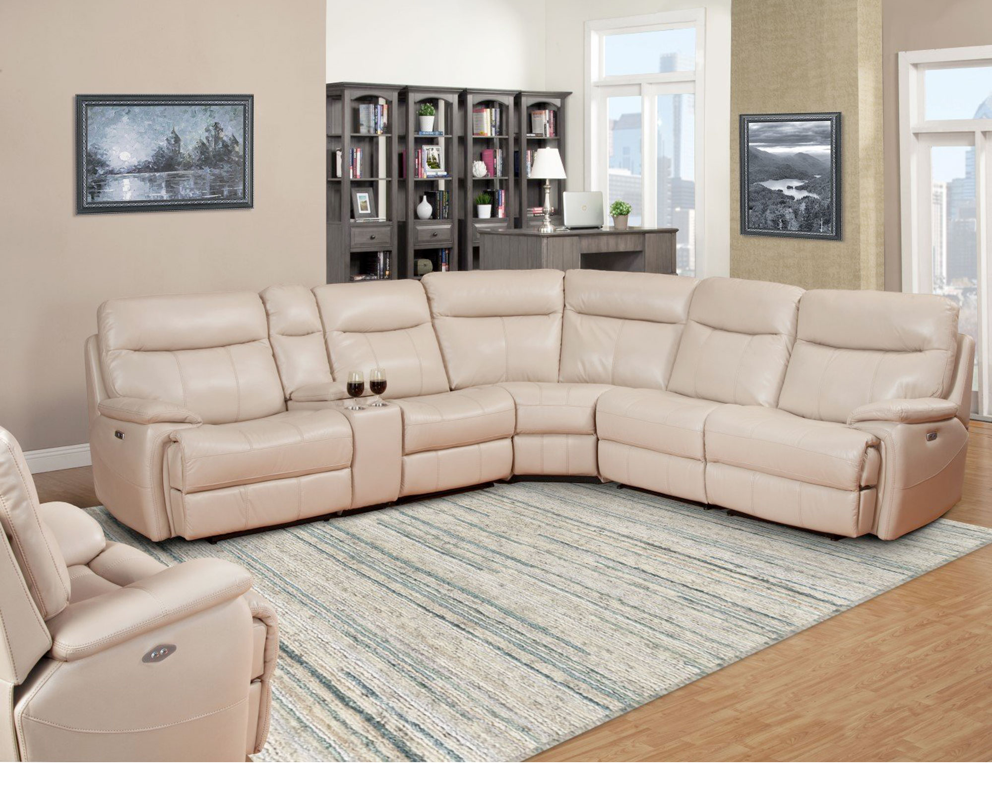 Outstanding Dylan Creme 6Pc Reclining Sectional With Power Sofas And Inzonedesignstudio Interior Chair Design Inzonedesignstudiocom