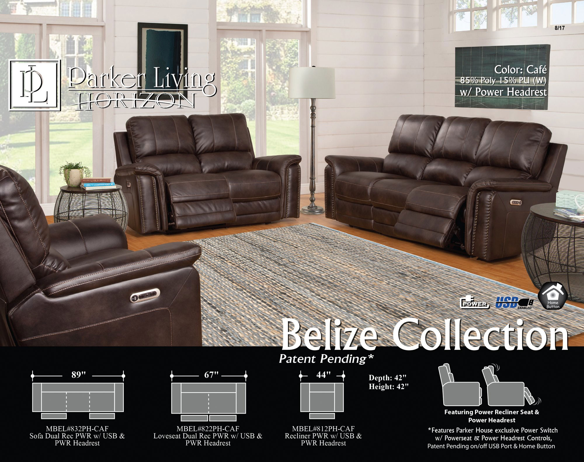 Phenomenal Belize Cafe Power Reclining Sofa With Power Sofas And Ibusinesslaw Wood Chair Design Ideas Ibusinesslaworg