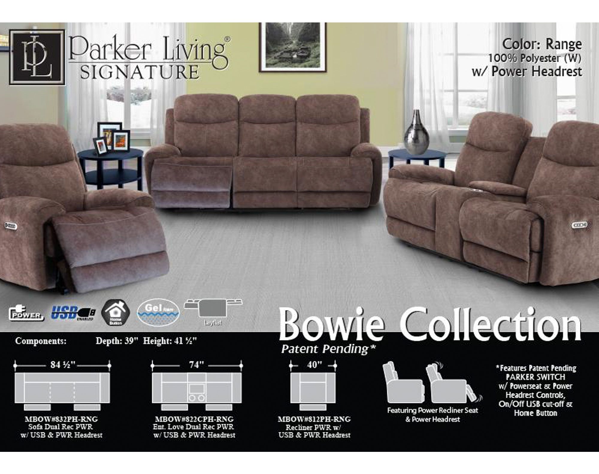 Superb Bowie Range Power Reclining Sofa With Power Sofas And Caraccident5 Cool Chair Designs And Ideas Caraccident5Info