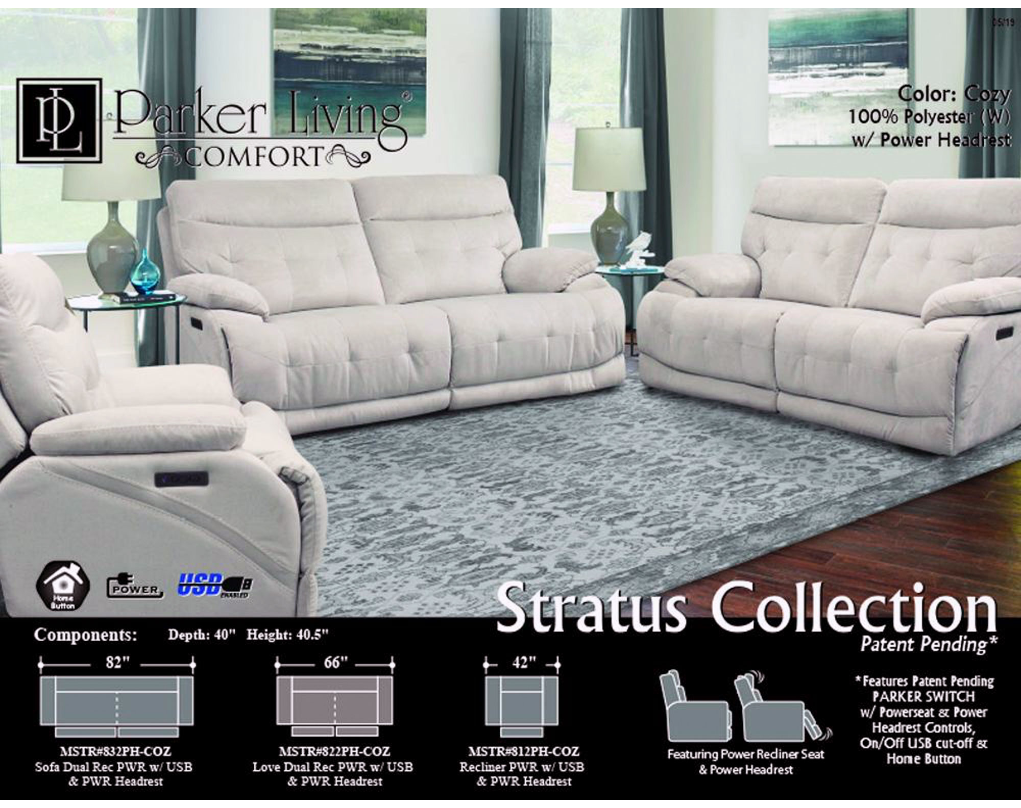 Magnificent Stratus Cozy Power Sofa With Power Headrest Sofas And Ibusinesslaw Wood Chair Design Ideas Ibusinesslaworg