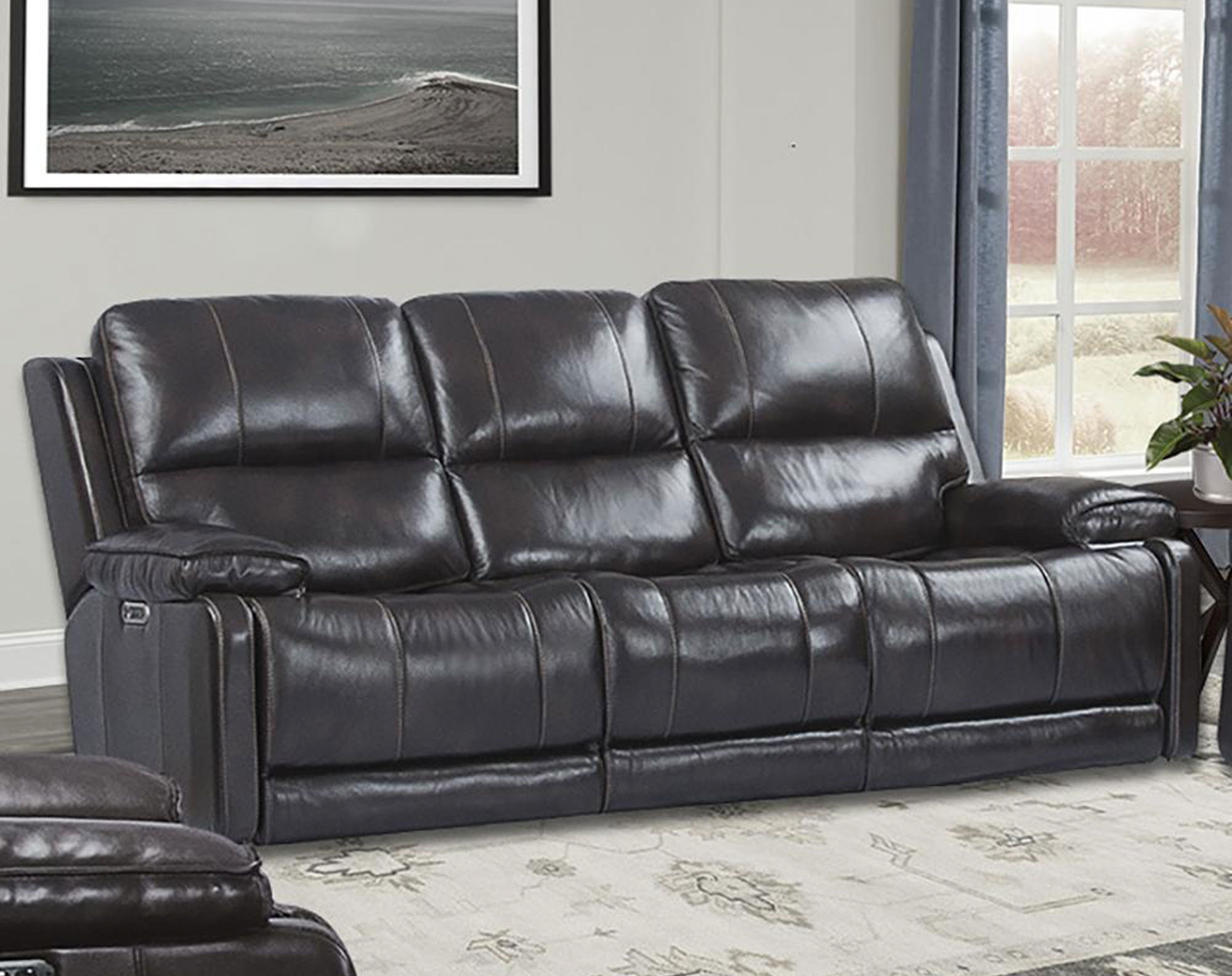 Wondrous Thompson Havana Leather Power Reclining Sofa Sofas And Machost Co Dining Chair Design Ideas Machostcouk