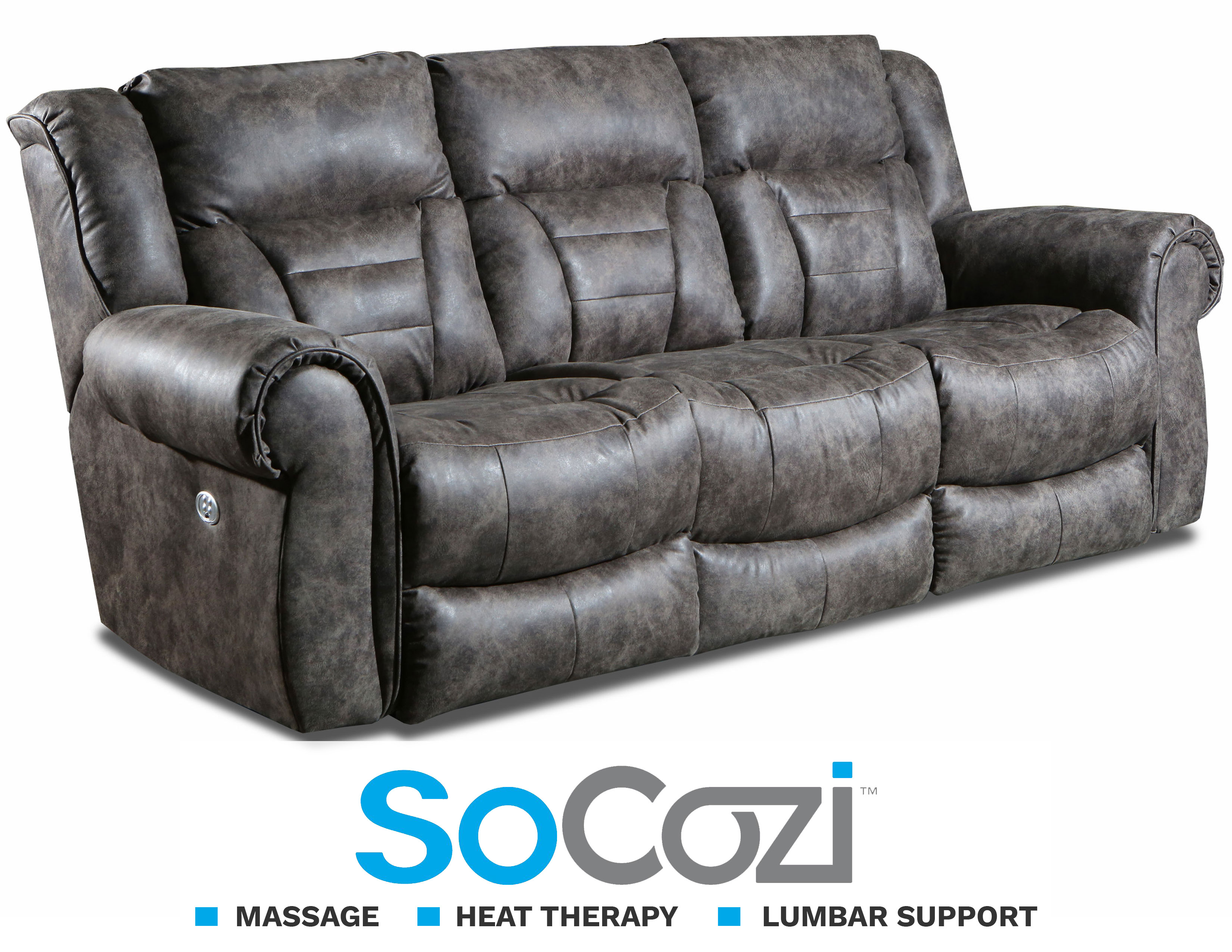Wondrous Titan Reclining Sofa W Massage Heat Lumbar Sofas And Caraccident5 Cool Chair Designs And Ideas Caraccident5Info