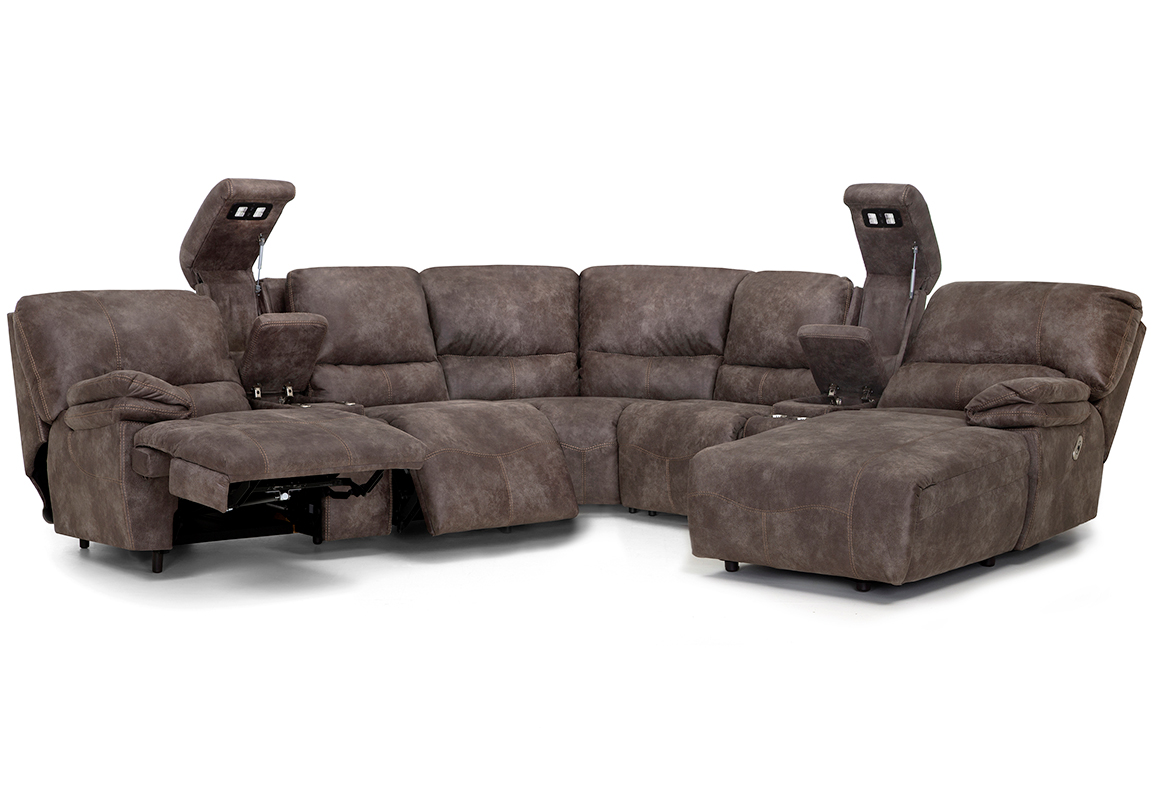 Incredible Boulder 787 Power Headrest Reclining Sectional Sofas And Machost Co Dining Chair Design Ideas Machostcouk