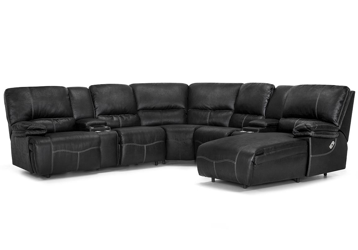 Magnificent Boulder 787 Power Headrest Reclining Sectional Sofas And Machost Co Dining Chair Design Ideas Machostcouk
