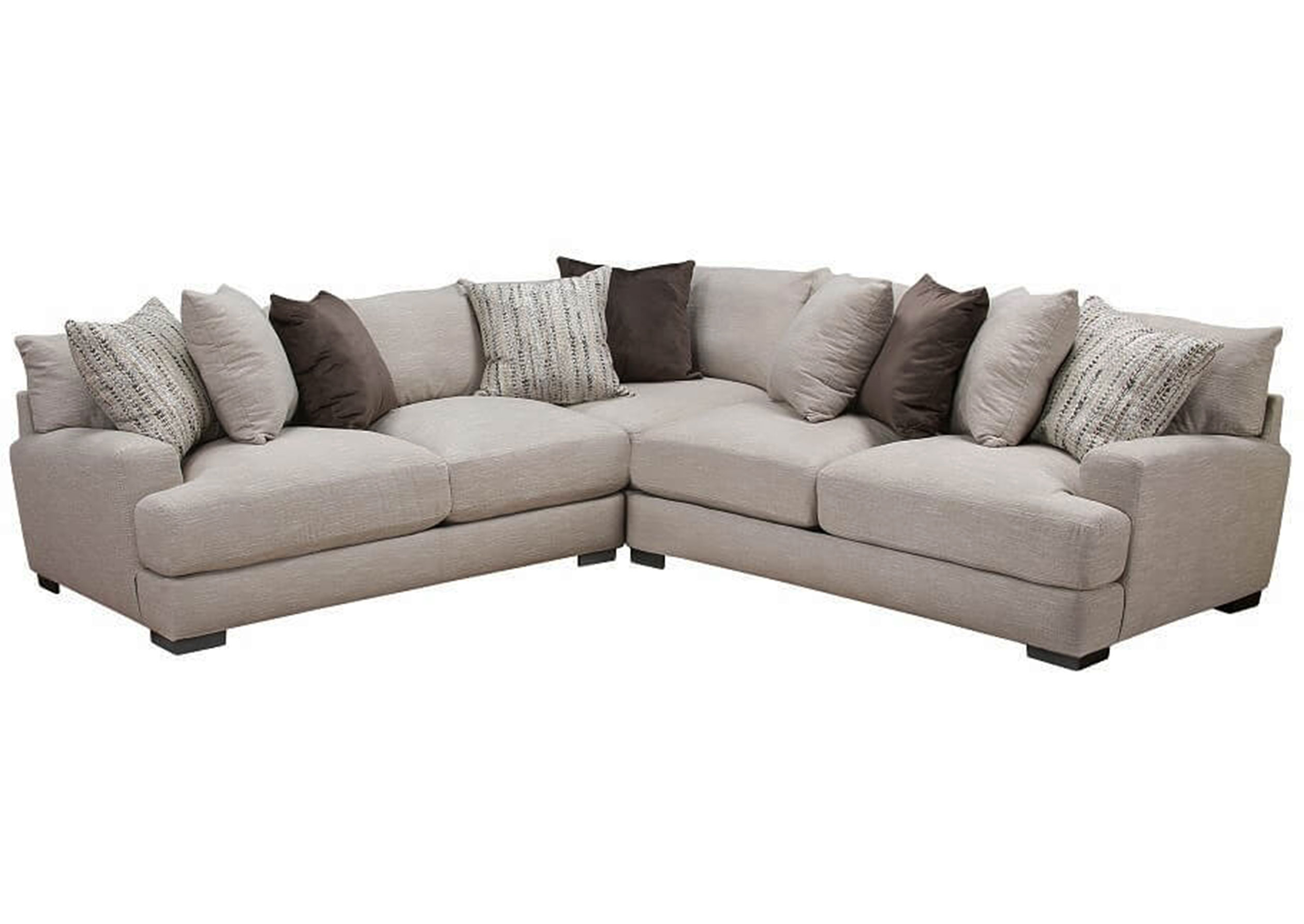 Cool Hannigan 808 Sectional Pillows Included Sofas And Sectionals Evergreenethics Interior Chair Design Evergreenethicsorg