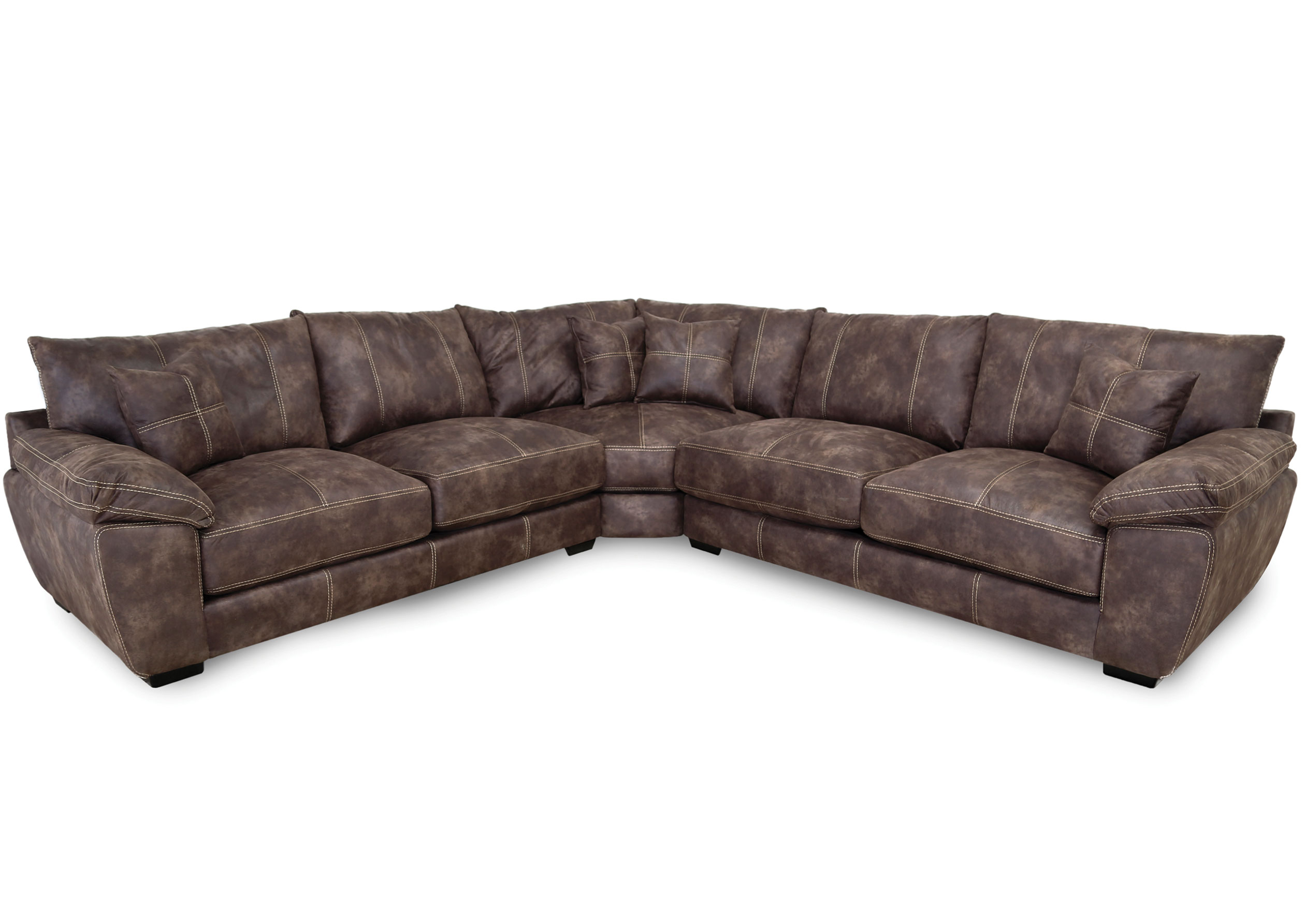Teagan Transitional Three Piece Sectional Sofas And Sectionals