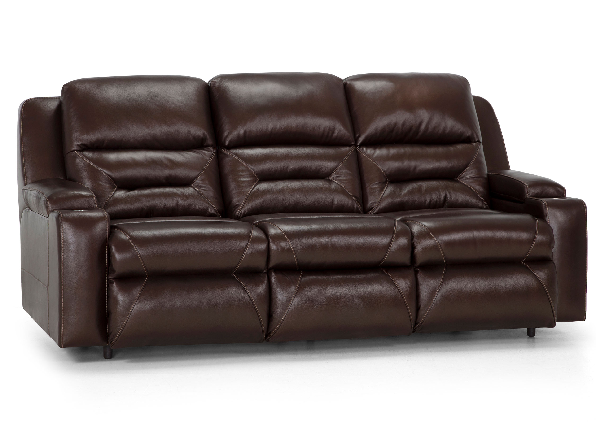 Beacon Leather Reclining Sofa W Power Recline Sofas And