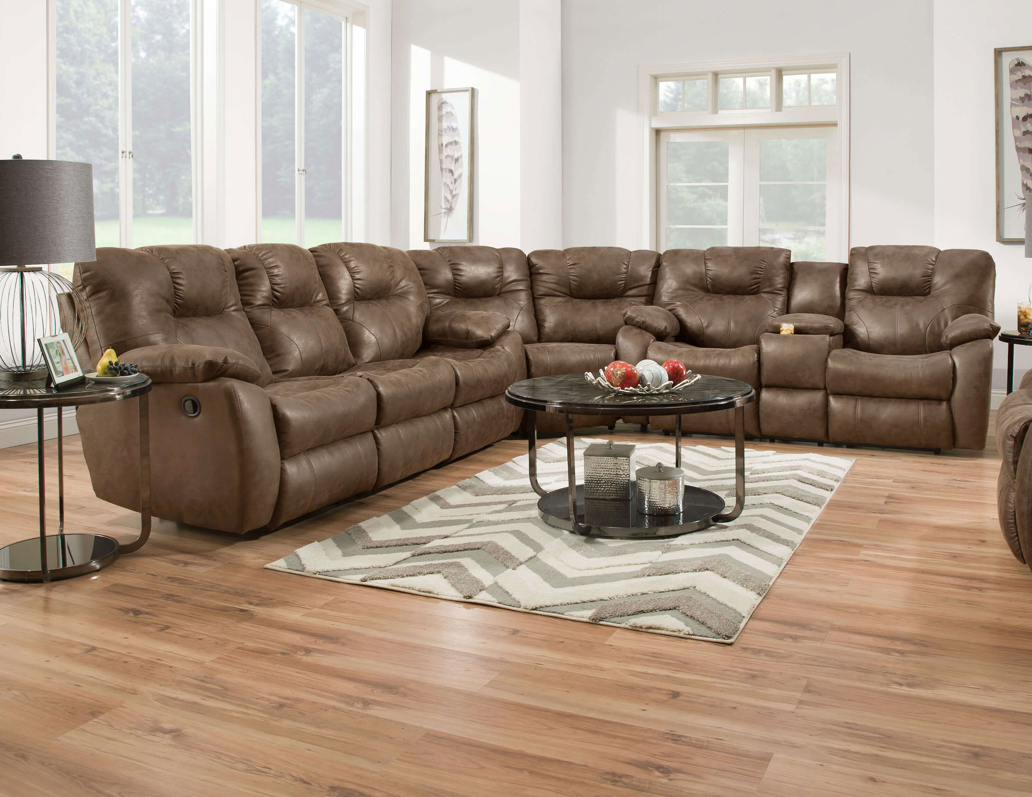 Avalon 838 Reclining Sectional 140 Fabrics And Sofas And Sectionals