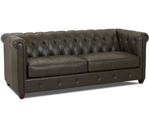 "Beech Mountain 88"" All Leather Sofa"