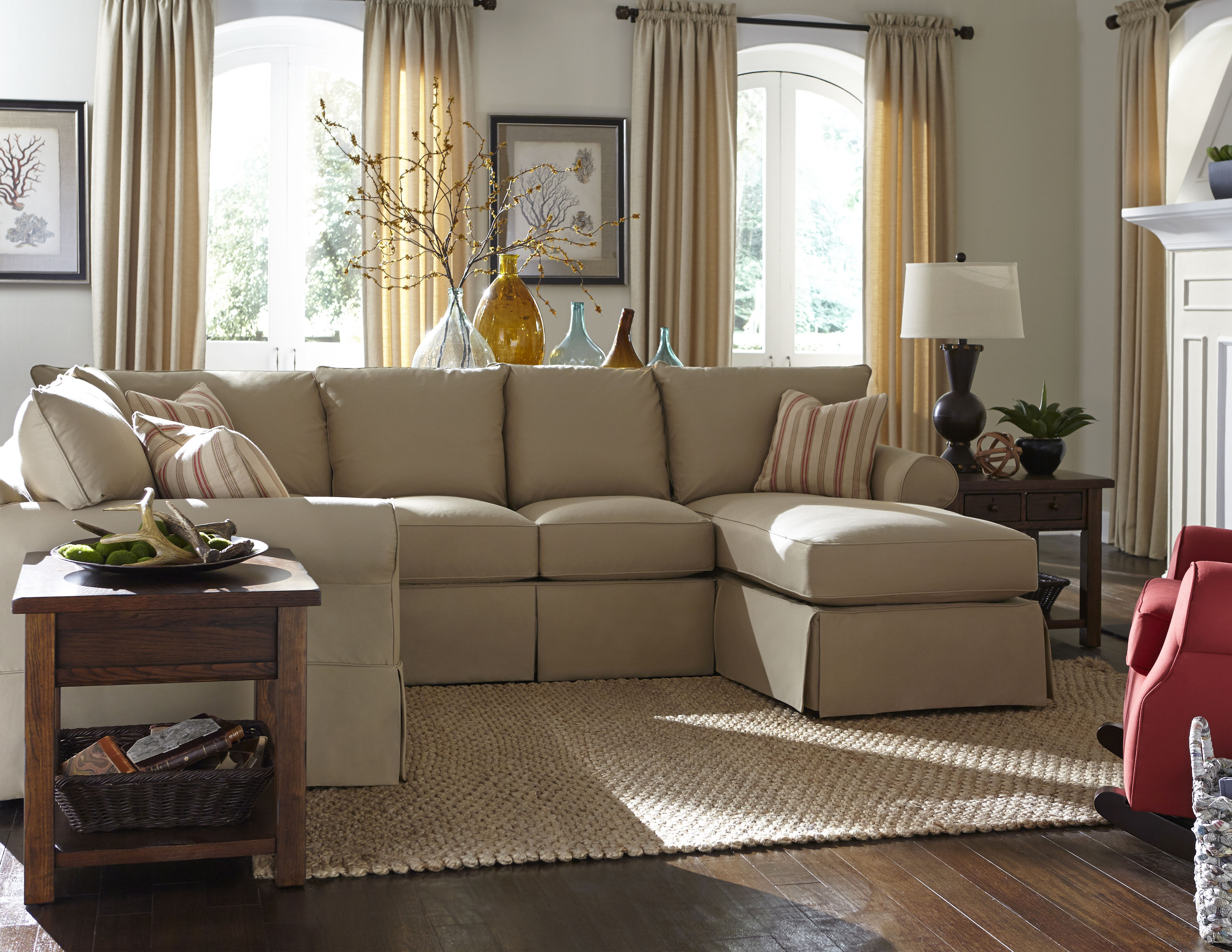 Jenny 16100 Slipcover Sectional With