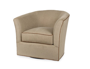 Ashland Swivel Chair (Made to Order Fabrics and Leathers)