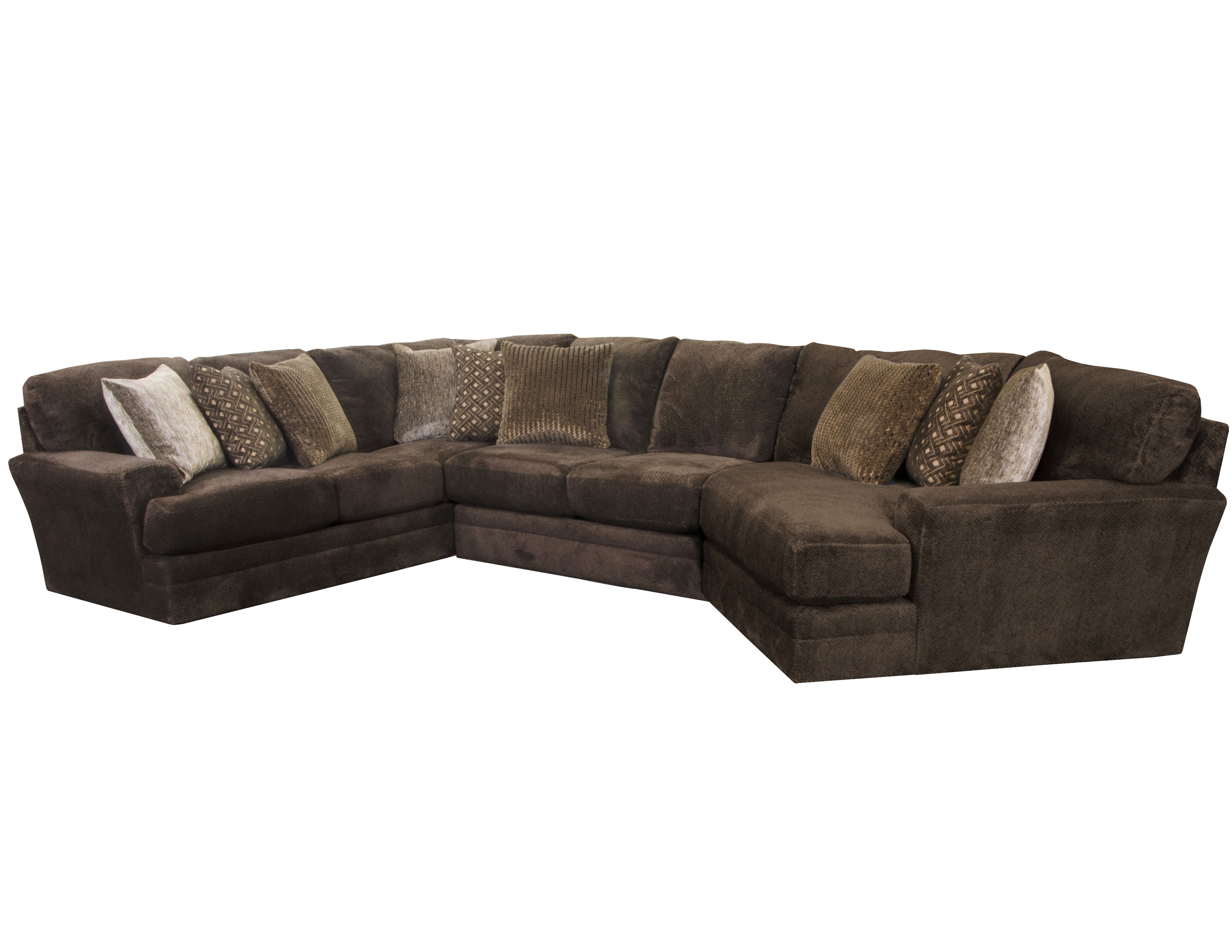 Pleasant Mammoth Sectional In Chocolate 15 Pieces Sofas And Sectionals Theyellowbook Wood Chair Design Ideas Theyellowbookinfo