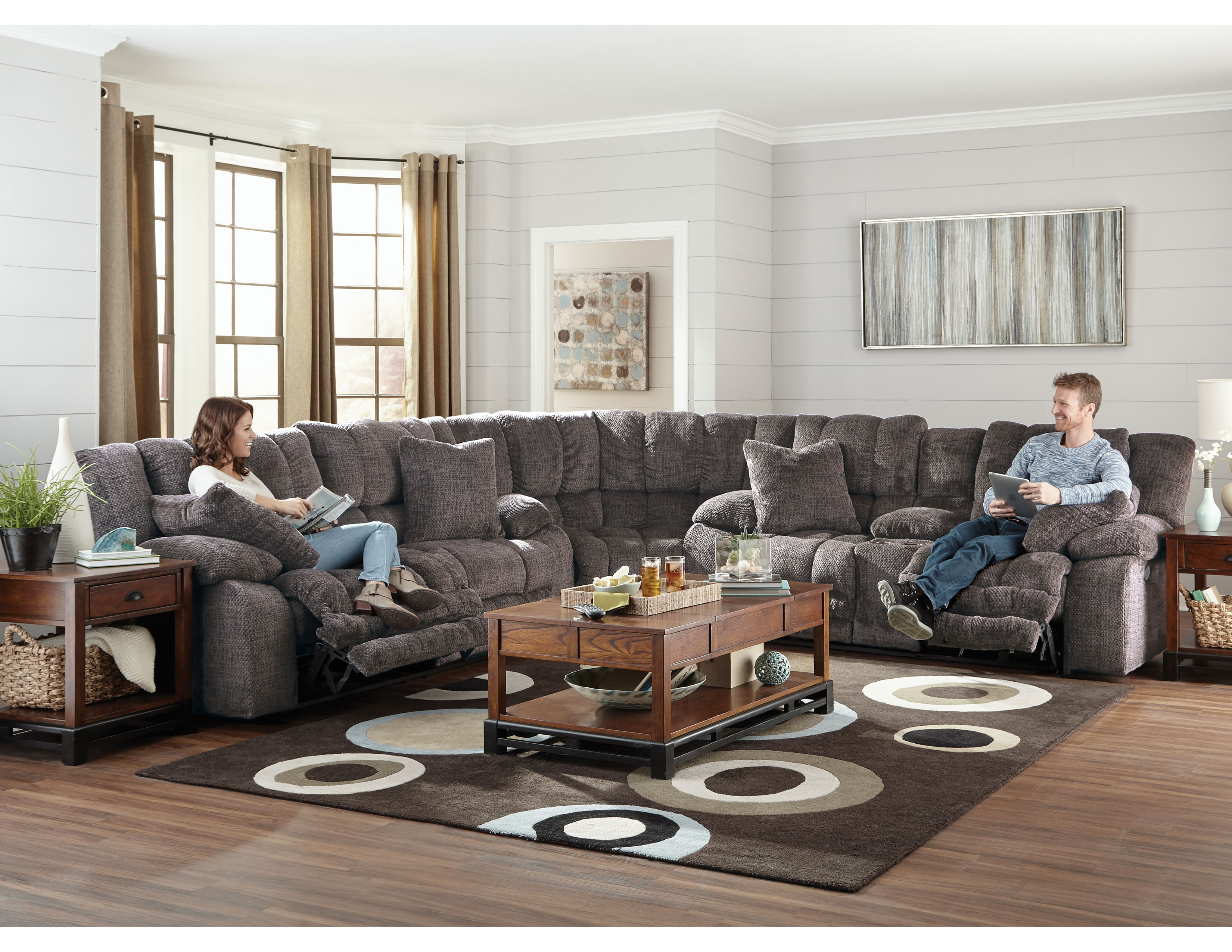 Astounding Branson 3 Piece Layflat Reclining Sectional W Sofas And Onthecornerstone Fun Painted Chair Ideas Images Onthecornerstoneorg