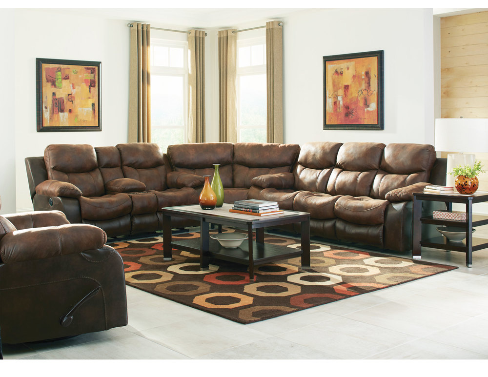 Amazing Henderson Two Tone Reclining Sectional In Sofas And Sectionals Caraccident5 Cool Chair Designs And Ideas Caraccident5Info