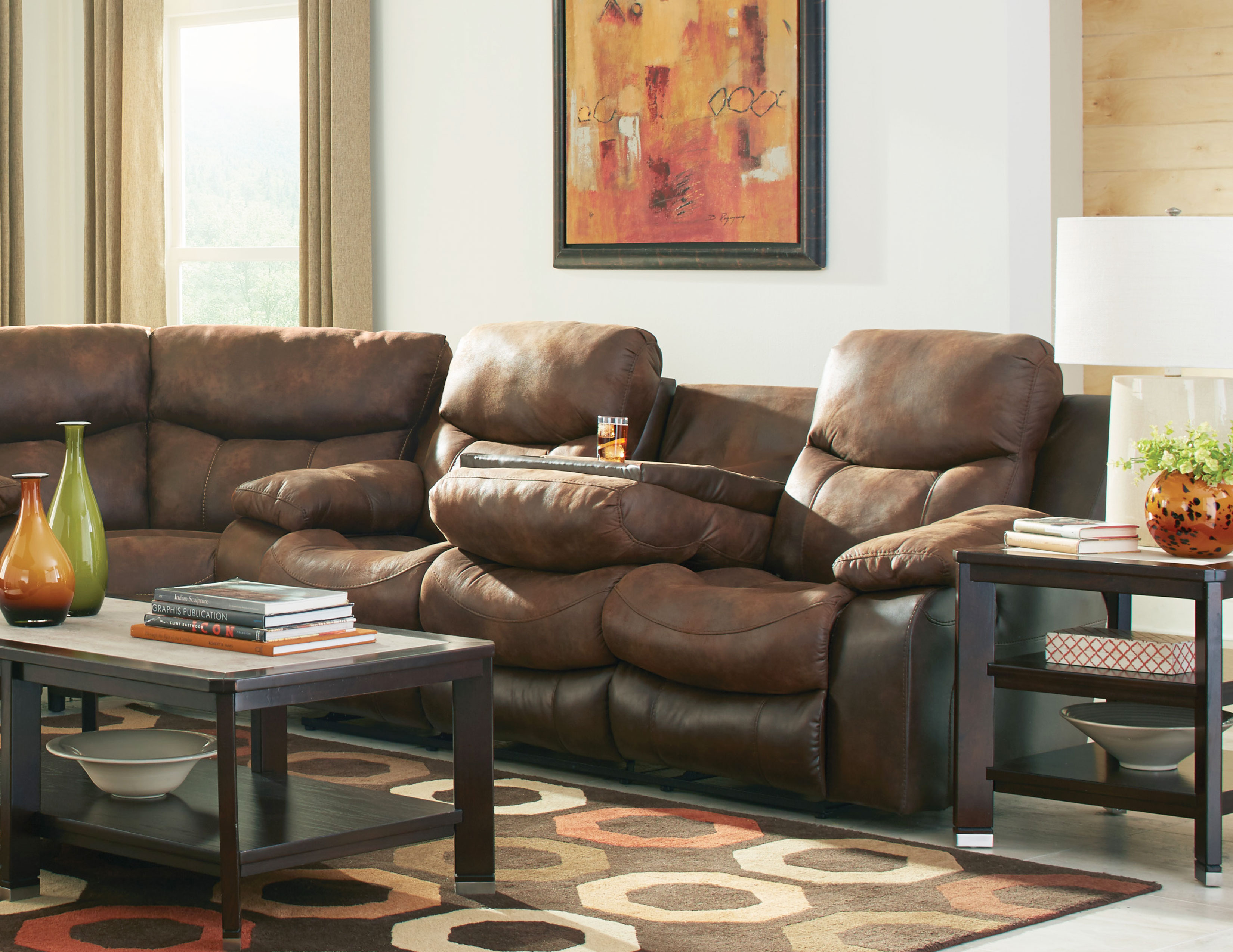 Brilliant Henderson Two Tone Reclining Sectional In Sofas And Sectionals Machost Co Dining Chair Design Ideas Machostcouk