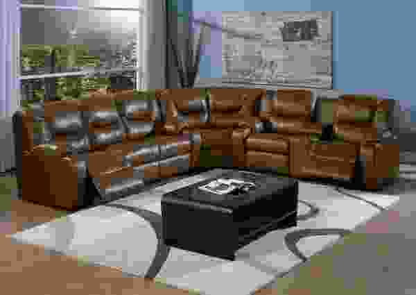 Dugan 41012 - 46012 Reclining Sectional - 450 Leathers and Fabrics