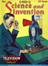 Cover from Science and Invention Magazine Nov 1928