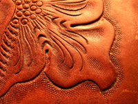 Embossed Leather Detail Close Up
