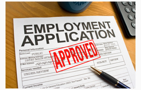Employment Application is Approved