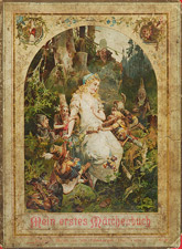 Snow White on German Fairy Tale Book Cover