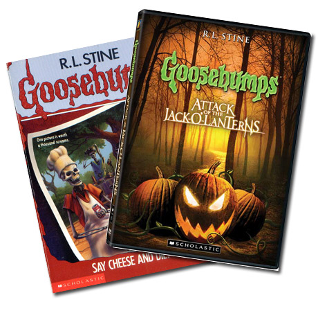 Goosebumps Book and DVD Samples