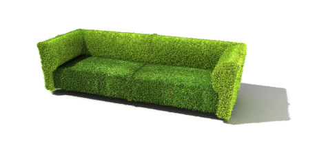 Grassy Couch representing Eco-friendly Furniture