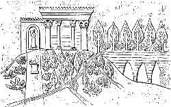Haning Gardens of Babylon Illustration