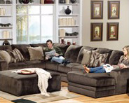 Jackson everest sectional Sofa with Ottoman
