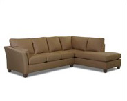 Klaussner Drew Sectional in Dark Brown