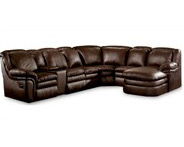 Lane Stallion Contemporary Leather Sectional
