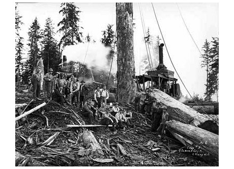 Loggers in Oregon circa 1935