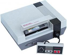 NES Console Controller and Game