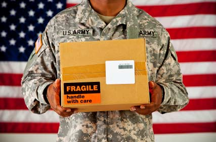Packages Sent to Active Duty Soldiers