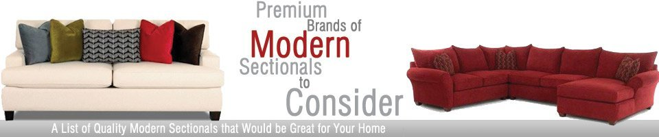 Premium Brand Modern Sectionals To Consider