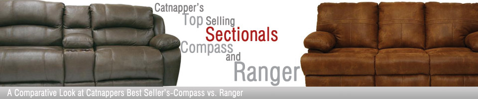 Catnapper's Top Selling Sectionals Compass and Ranger